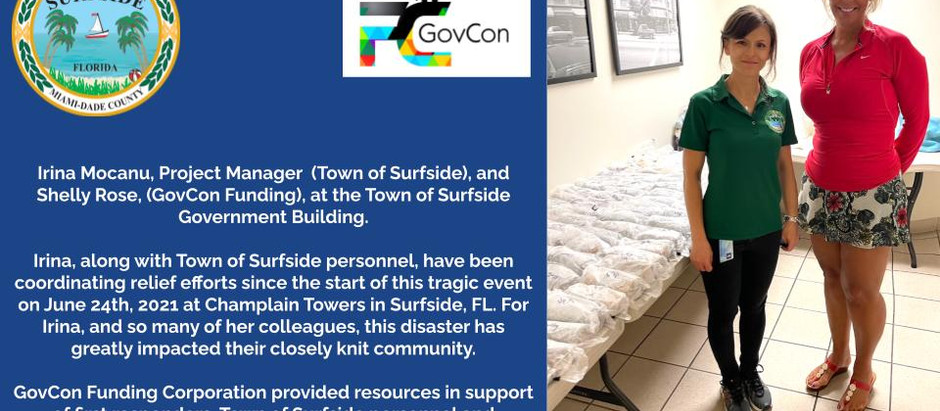 GovCon Funding Corporation Supports Town of Surfside, FL