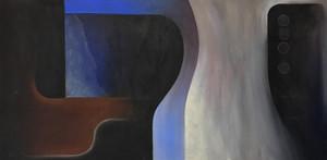 Composition in black, blue