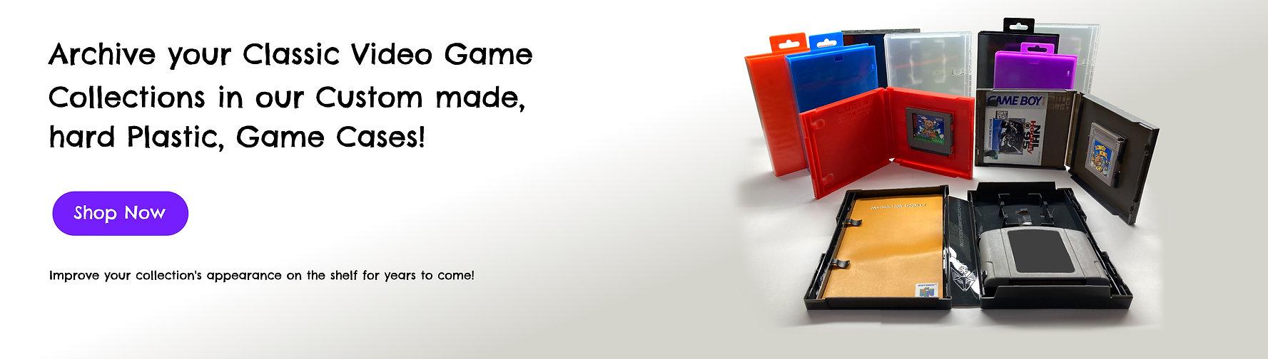 plastic custom retro video game cases