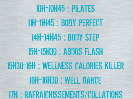 Programme de la journée portes ouvertes de Wellness Sport Attitude