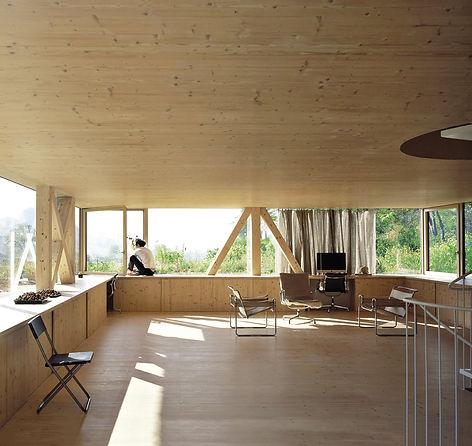 Maison bois NOVATOP, panneaux 3 plis et CLT