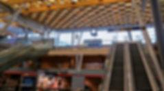 infrastructure en bois massif, plafond en bois massif, aéroport en bois, toit en bois, panneaux 3 plis et 5 plis, panneaux triplis, panneaux bois massif, Novatop Imca panels