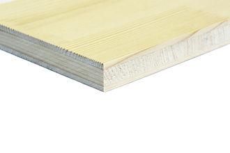 Panneau 3 plis sapin blanc bois massif NOVATOP IMCA PANELS