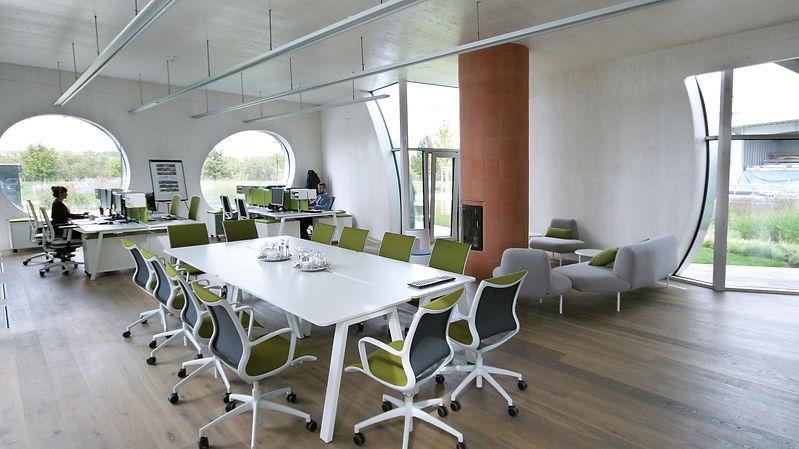 Aménagement de bureaux en bois, panneaux 3 plis et CLT NOVATOP