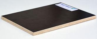 Panneau bois contreplaqué bouleau filmé, contreplaqué bakelisé coffrage