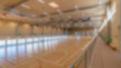 infrastructure en bois massif, gymnase salle de sport en bois massif, panneau acoustique Novatop Imca panels