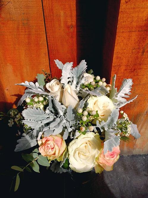 Dusty rose and Eucalyptus