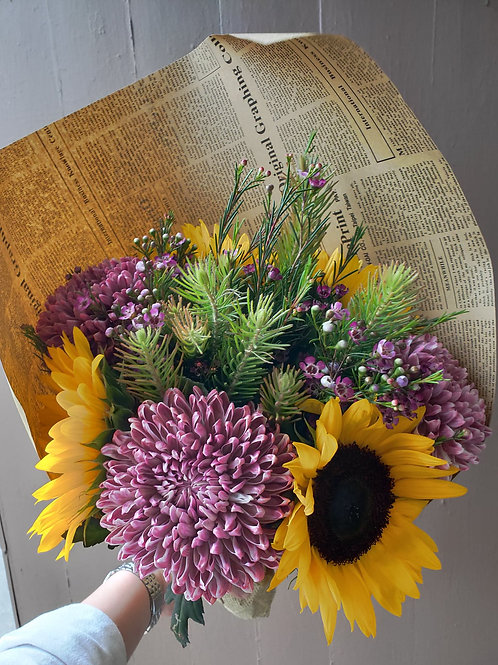 Sunflowers and Mums Bouquet