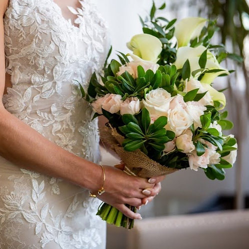 Bridal Bouquet: Whites and Pinks