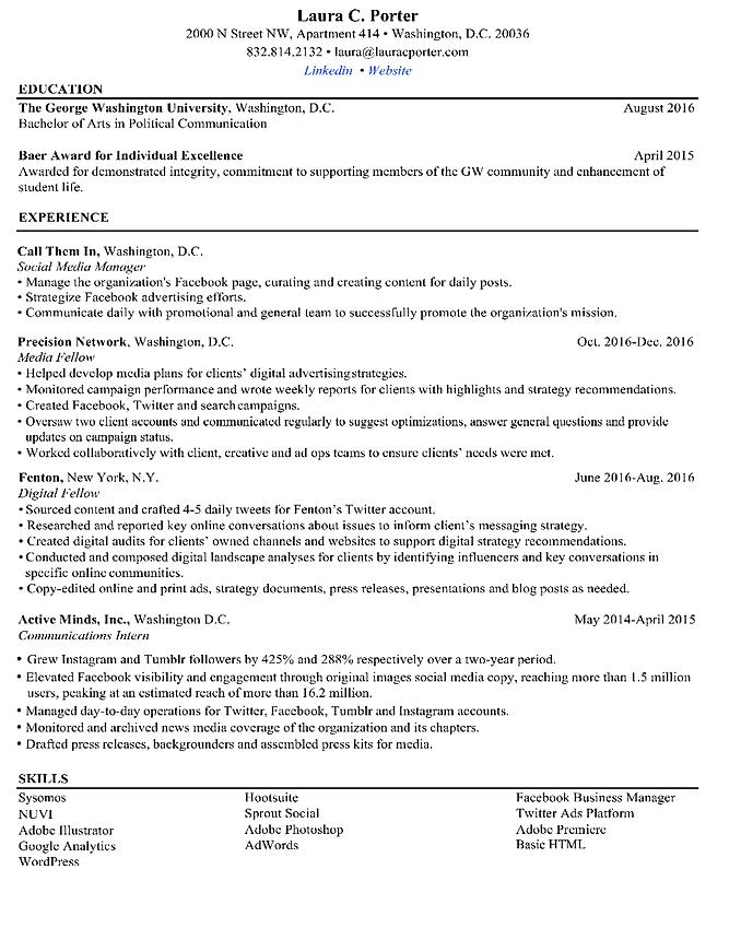 laura porter resume