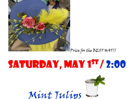 Derby Hat Party - May 1st