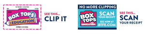 Box Tops Clip It and Box Top Scan This