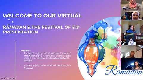 This video of a recorded presentation on Ramadanand the Festival of Eid.