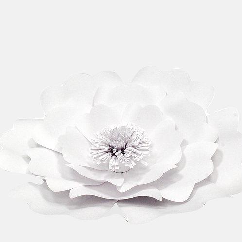 White Paper Flower Complex (3 Sizes)