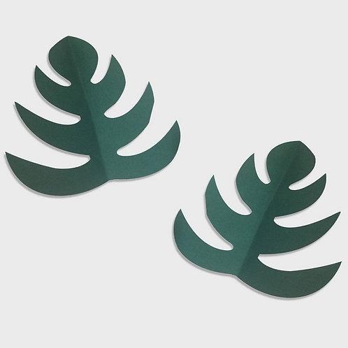 Paper Leaf Set of 2 (Dark Green)