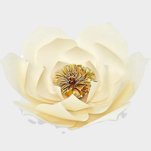 Cream Paper Flower (Golden Center)