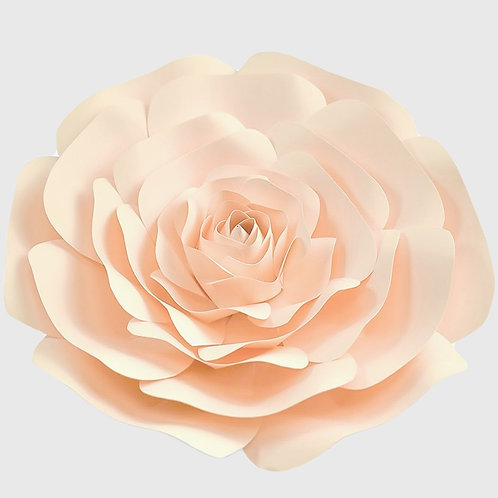 Peach Paper Rose (3 Sizes)