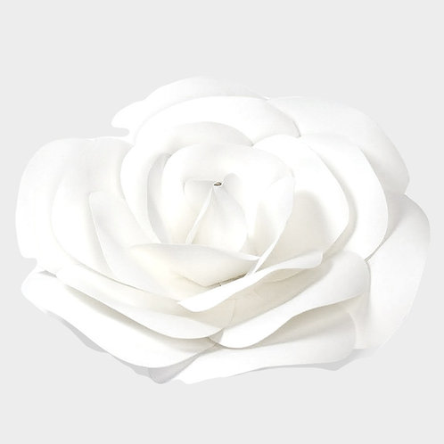 White Paper Rose with Circle Center (2 Sizes)