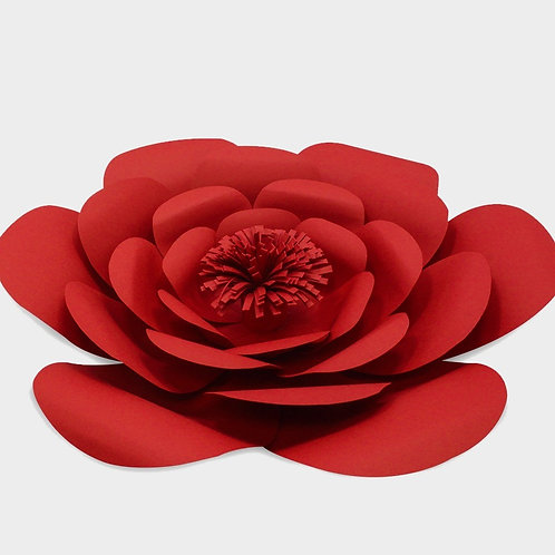 Red Paper Flower Rounded (3 Sizes)