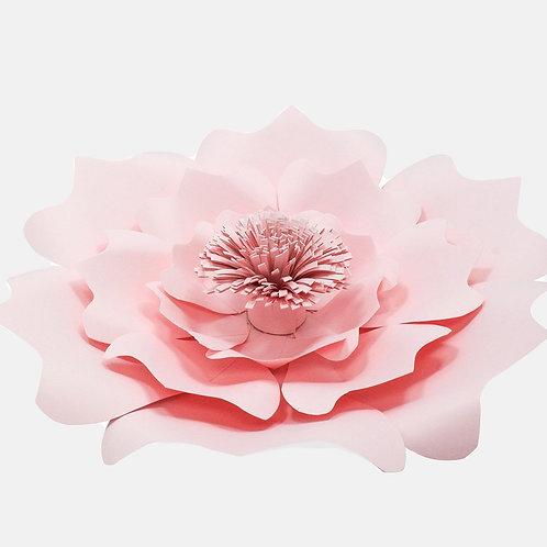 Pink Paper Flower Complex (3 Sizes)