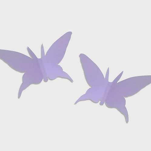 Paper Butterfly Set of 2 (Light Purple)