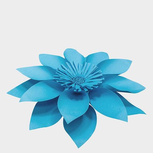 Lunar Blue Paper Flower Sun (3 Sizes)