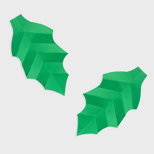 Paper Leaf Set of 2 (Green)