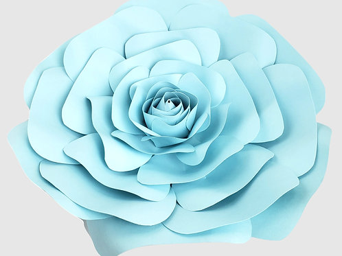 Light Blue Paper Rose (3 Sizes)