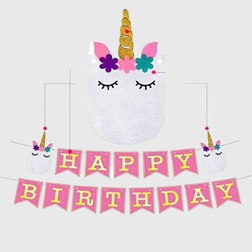 Happy Birthday Banner (Unicorn)
