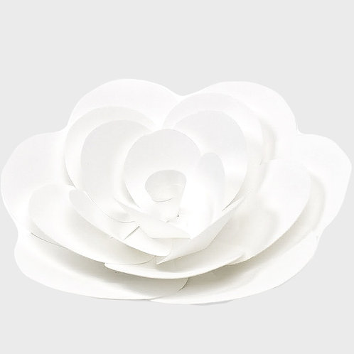 White Paper Rounded Lily