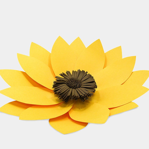 Yellow Paper Flower Sunflower (3 Sizes)