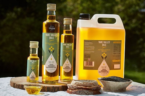 Refill Rapeseed Oil and Dressings based on 100ml + 100ml glass bottle