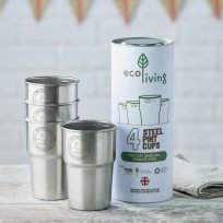 Stainless Steel Pint Cups – 4 Pack