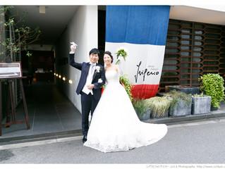 穏やかオーラ放つお二人|大阪南堀江フリジェリオ結婚式