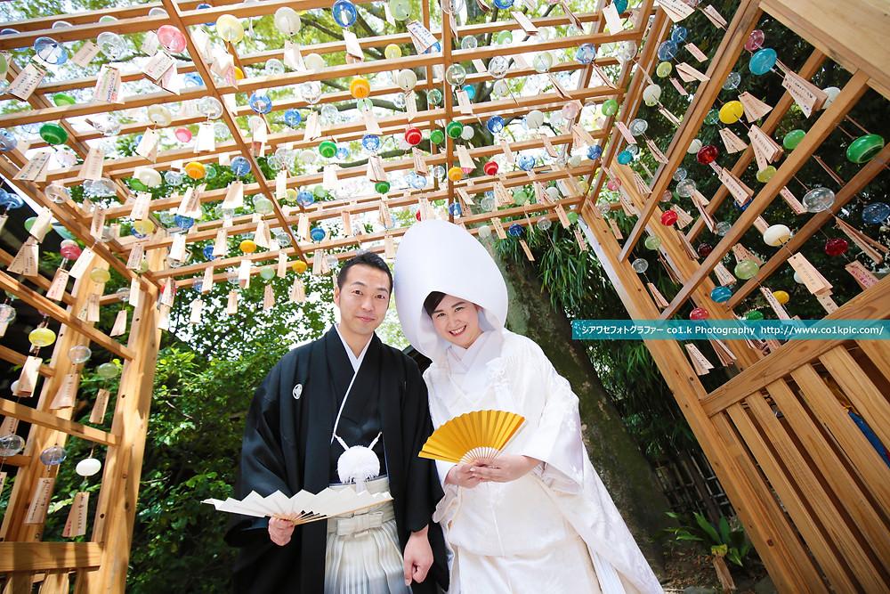 氷川神社|縁むすび風鈴|日本全国結婚式写真撮影 景山幸一