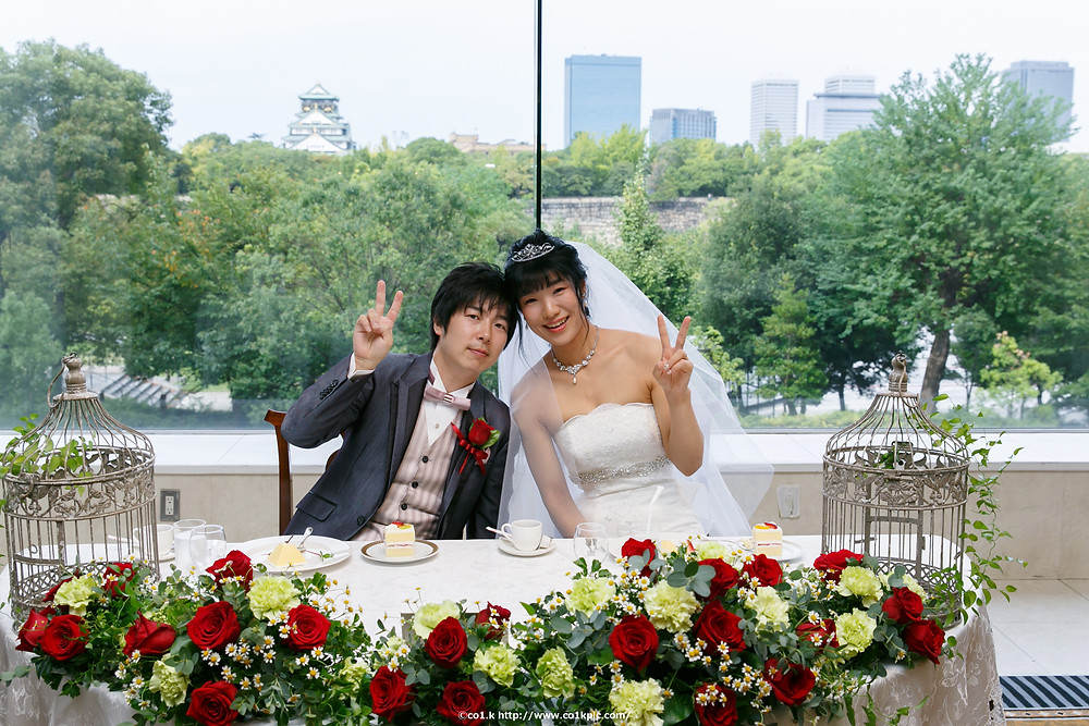 結婚写真|大阪城公園をバックに|フォトグラファー KOICHI KAGEYAMA