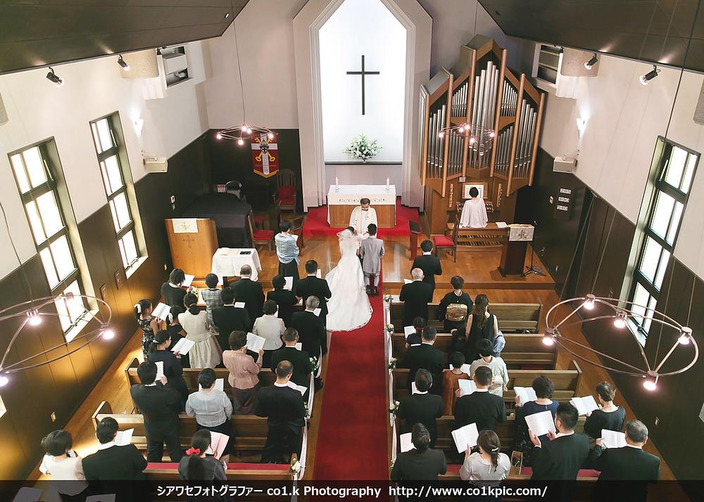 西宮聖ペテロ教会結婚式写真撮影|photographer co1.k