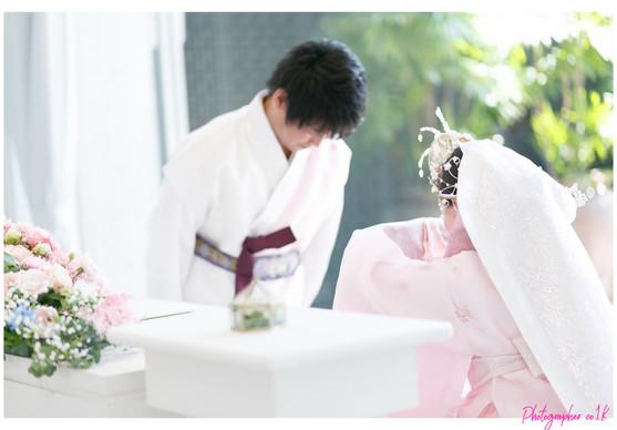 韓国伝統衣装での結婚式|シアワセフォトグラファー景山幸一