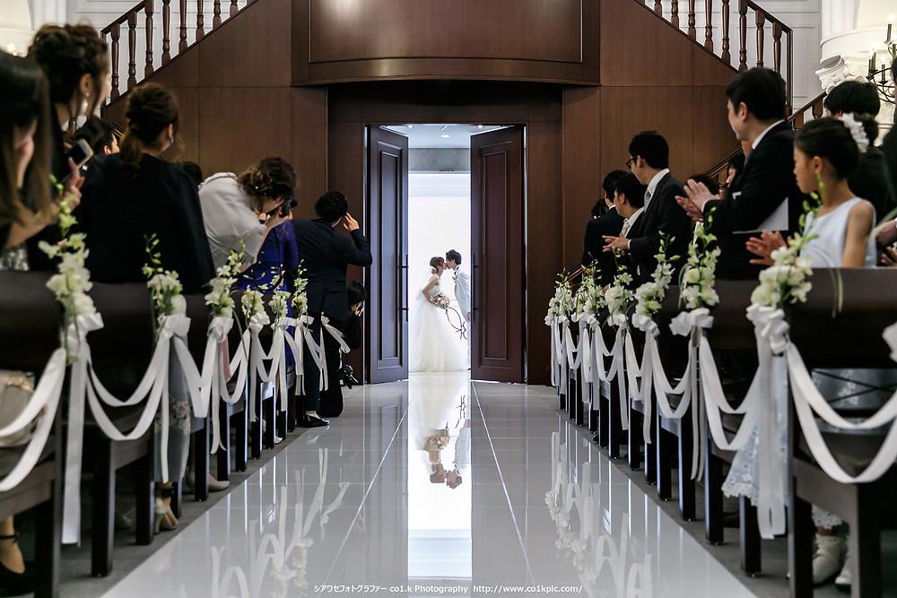 Closing Wedding Kiss|シアワセフォトグラファーco1.k