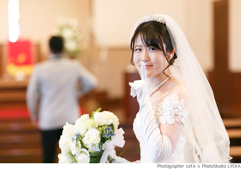 ファーストミート直前の花嫁を撮影した写真です