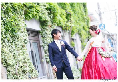 結婚式出張写真撮影|素敵なチマチョゴリ
