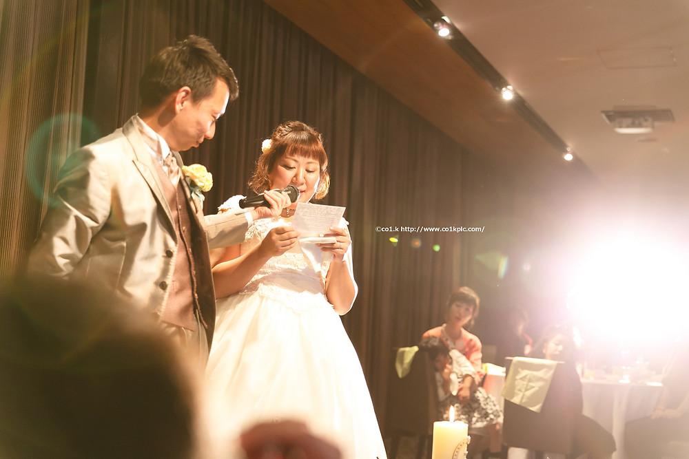 素敵な結婚式と素敵なお二人。