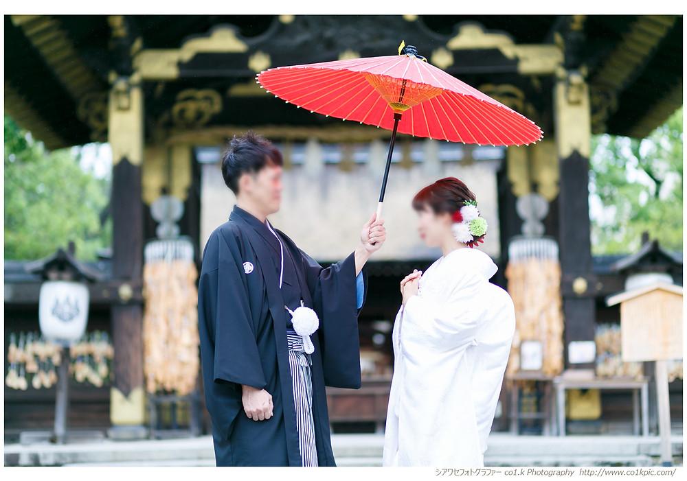 京都豊国神社結婚式撮影|シアワセフォトグラファーco1.k