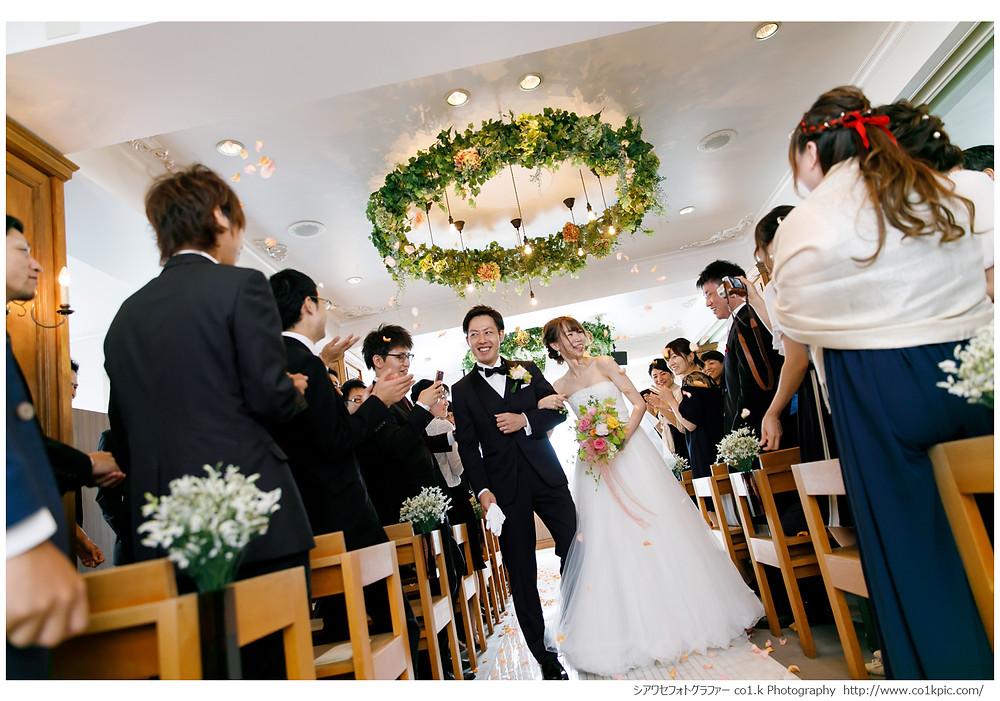 挙式フラワーシャワー|結婚式持ち込みフォトグラファーco1.k