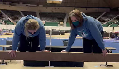Nicole & Emily showing how easy the balance beam really is!