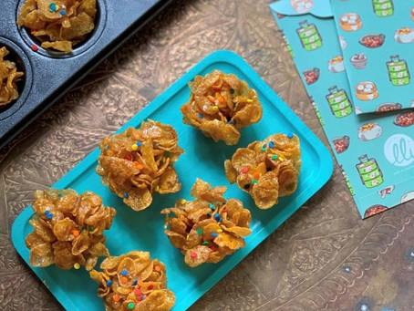 Easy honey cornflakes biscuits