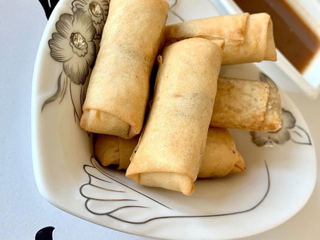 Potato spring rolls for Iftar with Honufa