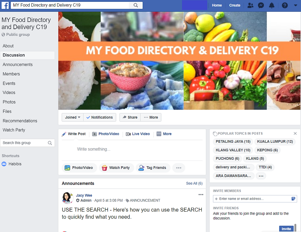 Photo from the MY Food Directory and Delivery C 19 Facebook page