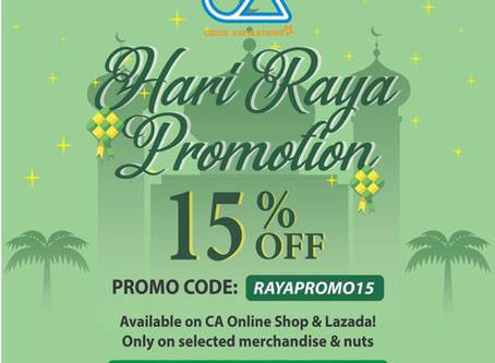 CA merchandise sale for Raya