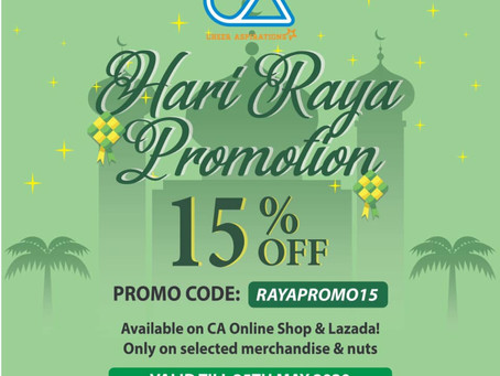 CA merchandise sale for Raya